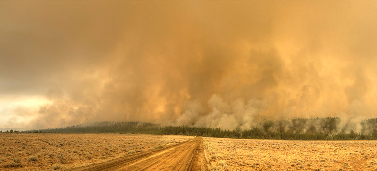 Forest fire smoke © BLMOregon