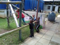 Children at play at clinic